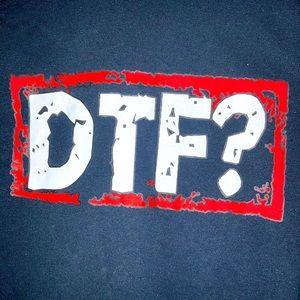 "Black ""DTF"" ""YOLO"" Tee"